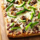 Philly Cheese Steak Pizza from Pillsbury(R) Pizza Crust - A delicious twist on the traditional roast beef sandwich, with tasty toppings served hot on pizza crust.