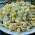 Cottage Noodles and Cabbage - Cabbage and onions are sauteed and tossed with pasta and cottage cheese.
