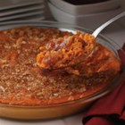 Heavenly Sweet Potato Casserole - Cooked sweet potato is blended with apple butter, cream, honey, and brown sugar then baked for a comforting autumn side dish.