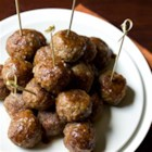 Party Swedish Meatballs - Meatballs made from beef and pork sausage combined with special ingredient apple butter are sure to please at your next party!