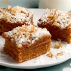 Caramel Crumble Bars - These layered bars are rich with cinnamon apple, coconut and walnuts.