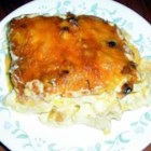 Chicken Lasagna IV - This lasagna is baked with a creamy blend of cream of chicken soup, cream of mushroom soup, Parmesan cheese, sour cream, mayonnaise and lots of cheddar cheese.