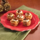 Cookie Pies - A sugar cookie crust with sweet potato filling, topped with pecans and caramel.