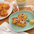 Goat Cheese and Cherry Latkes - Not your traditional potato pancakes.