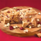 White Chocolate Cranberry Blondies - A holiday color studded delight.  Serve warm, a la mode for extra fun.