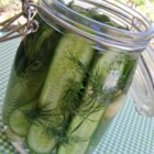 Refrigerator Dill Pickles - These easy refrigerator dill pickles are perfectly seasoned, crisp, and delicious.
