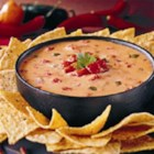 Famous Queso Dip - Spicy diced tomatoes with green chilies and lots of cheese are cooked and blended until cheese is melted for a quick, crowd-pleasing dip.