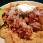 King of the Hill Frito(R) Pie - Homemade turkey chili served over corn chips makes a fun and easy snack or lunch.