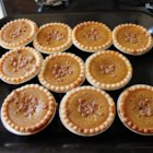 Pumpkin Toffee Pie - A pumpkin pie with the added indulgence of toffee bits under the filling.
