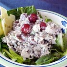 Wild Rice Salad - Nutty wild rice combines with tender turkey, sweet grapes, crunchy almonds and a light, creamy dressing in this wonderful salad.