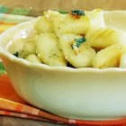 Gnocchi with Sage-Butter Sauce - A delicious sage, butter, garlic and cheese sauce makes a delicious side dish or complete meal!