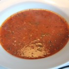 Cheesiest Tomato Soup - Canned tomatoes are pureed then simmered with Cheddar and herbs for an easy, cheesy tomato soup.