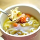 Chef John's Homemade Chicken Noodle Soup - This soul-warming soup is deliciously simple--just chicken and noodles. What makes it so good is the homemade roasted chicken stock.