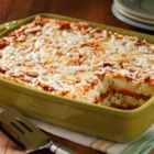 Buffalo Chicken Layered Mashed - A play on lasagna substituting Roasted Garlic Flavored Mashed Potatoes for the noodles.