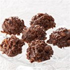No Bake Chocolate Chews - Rich, chocolate cookies with nuts, rolled oats, and coconut make a quick and tasty dessert or snack.