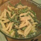Penne with Spring Vegetables - Penne pasta is tossed with asparagus and snow peas in this quick, light, and easy dish.