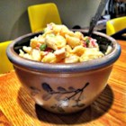 Primo Pasta Salad - This pasta salad is packed with a variety of flavors, including ham, cheese, shrimp, bell pepper, olive, artichoke, egg, etc. Plenty to prepare, but an impressive result.