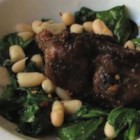 Chef John's Pork and Beans and Greens - Everybody loves pork and beans, and this version with an Italian spin takes the down-home comfort dish to a rustic yet gourmet level.
