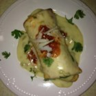 Chicken Chimichangas with Sour Cream Sauce - Green chiles and Monterey Jack cheese make these chimichangas special.
