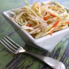 Sweet Restaurant Coleslaw - This slightly sweetened coleslaw is made with the convenient use of prepared coleslaw mix in a creamy salad dressing with poppy seeds.