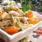 Fruit and Nut Slaw - Tropical fruits married with cabbage to make a superlative coleslaw.