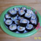 California Roll - A California roll is a fresh take on traditional Japanese rice rolls. Filled with avocado, crab, and cucumber, it's fresh and crunchy and makes a filling meal. You can use real or imitation crab.