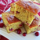 Cranberry Corn Bread - Sweet, tangy cranberries add their flavor and color to a made-from-scratch corn bread that's perfect for the holiday table.