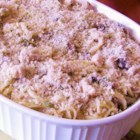 Turkey Tetrazzini a la Stouffers(R) - Leftover cooked turkey never had it so good as when combined with angel hair pasta and mushrooms in a delicate cream sauce flavored with sherry and baked in a casserole.