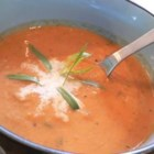 Zucchini Summer Soup - This zucchini and tomato soup is great for using up those giant zucchinis from the garden.