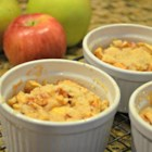 Apple Cobbler Crumble - Granny Smith apples are layered with a buttery cobbler producing a deliciously moist apple cobbler-crumble for any day of the week.