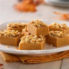 Peanut Butter Fudge Bites - Creamy peanut butter fudge has a topping of dry-roasted peanuts for an easy-to-make addition to your holiday entertaining.