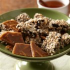 Decadent Chocolate Almond Toffee - Crunchy, buttery toffee pieces are dipped in rich dark chocolate and chopped toasted almonds for a treat that makes a great holiday gift or addition to your dessert tray.