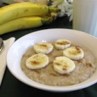 Sweet Banana Almond Oatmeal - Almond milk and almond extract work with banana and to sweeten and flavor rolled oats in this quick and easy breakfast recipe.