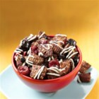 Black Forest Chex(R) Mix - Bite into the flavors of a restaurant-inspired, dark chocolate-cherry cake in a super easy snack mix.