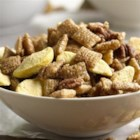 Peach Cobbler Chex Party Mix - Peach cobbler flavors in an easy Chex(R) party mix.