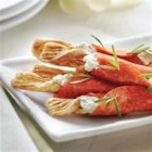 Crunchy Pepperoni Sticks - Ordinary breadsticks become irresistible wrapped in thin slices of Margherita(R) sandwich pepperoni with garlic cheese and a dash of thyme, rosemary, or basil.