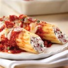 Ricotta and Margherita(R) Salami Manicotti - Margherita(R) Genoa Salami with ricotta, Romano and mozzarella cheeses mingle with an array of Italian spices to create the perfect twist on this classic family favorite.