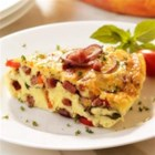 Salami Frittata - Bring some excitement back to breakfast by dressing up your scrambled eggs with rich Asiago cheese, onions, crispy peppers and the robust flavor of Margherita(R) Genoa or hard salami.