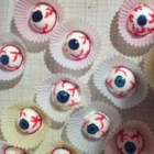 Spooky Halloween Eyes - Spook everyone at your next Halloween party with these 'eye balls' made with hard-boiled eggs painted with food coloring.