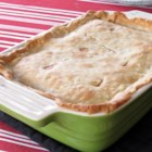 Healthier Chicken Pot Pie IX - Made-from-scratch chicken pot pie just got healthier with more vegetables, low-fat milk, and less butter.