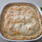 Fast and Easy Turkey Pot Pie - Use frozen veggies, a premade pie crust, and cooked turkey meat to make your family a savory pot pie the easy way. The creamy filling is flavored with Cheddar cheese.