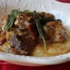 Chef John's Pork al Latte  - When the weather gets a little colder, this pork stew really hits the spot. Pork shoulder meat is braised in a creme fraiche sauce until amazingly tender and delicious. Serve on polenta with crisp sage leaves for garnish.