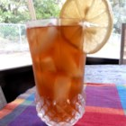 Lemon Iced Tea - Orange pekoe tea flavored with lemon juice and sweetened with Splenda(R) Granulated Sweetener. Serve in a tall glass over ice.