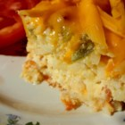 Easy Breakfast Casserole from Country Crock(R) - Eggs, assorted veggies, shredded cheese, hash browns, and bacon make a great brunch casserole that feeds a crowd.
