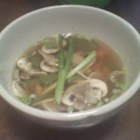 Easy Japanese Steakhouse Soup - A few simple ingredients  - chicken stock, carrots, snow peas, chicken, and seasonings - combine to make a quick and tasty soup.