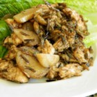 Best Wild Rice Salad - Nutty wild rice and tender chicken breast pair up with crunchy water chestnuts and a tangy walnut and balsamic vinaigrette in this fresh-tasting salad!