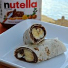 Nutella(R) Roll Up - Chocolate-hazelnut spread covers a warm tortilla rolled around a banana...what are you waiting for? Make this!