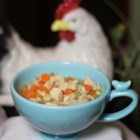 Simply Delicious Chicken Rice Soup - Nothing's more comforting that a steaming bowl of chicken and rice soup, especially when you have the flu.