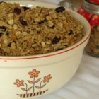 Mostly Oats Granola - Make your own granola that is mostly oats with hints of coconut, peanuts, and seeds for a hearty breakfast cereal.