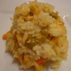 Baked Vegetable Rice Pilaf - Baked vegetable rice pilaf is topped with Cheddar cheese for a quick and easy side dish.